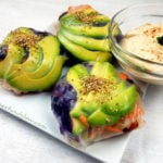 Sushi Spring Buns with Spicy Almond Dip