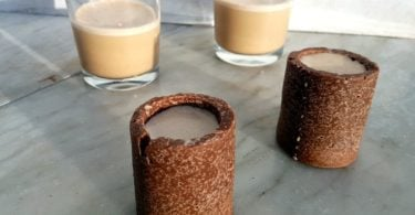 Coconut milk baileys with coconut chocolate shot glasses Recipe