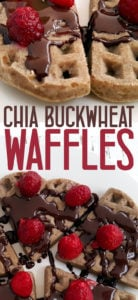 Fluffy buckwheat waffles without eggs that are vegan and gluten free. Healthy waffles that are made without butter, sugar or banana #glutenfree #veganrecipe #healthyrecipe #healthybreakfast #breakfastrecipe