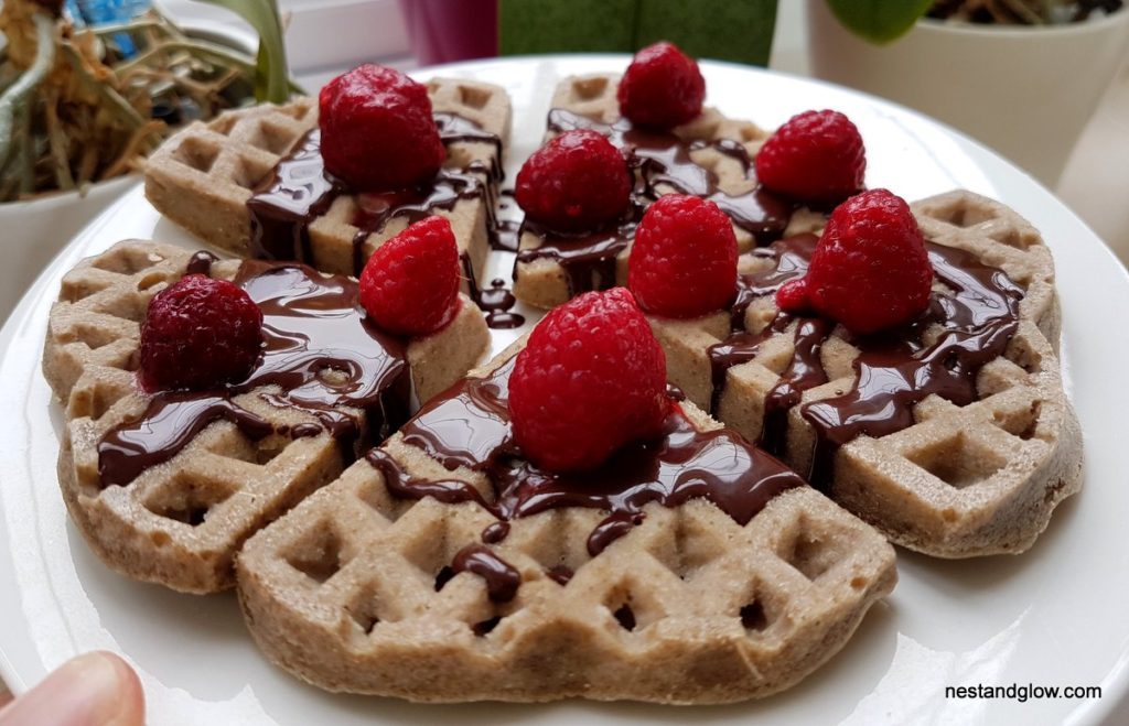 easy to make vegan gluten free waffles