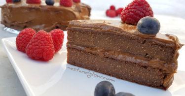Quinoa Avocado Chocolate Fudge Cake Recipe