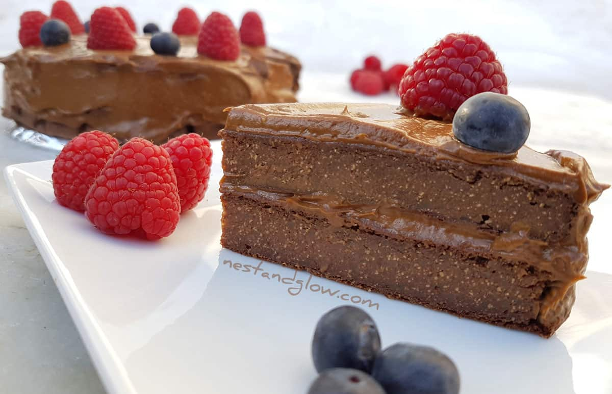Quinoa Avocado Chocolate Fudge Cake Recipe - Gluten Free, Vegan ...