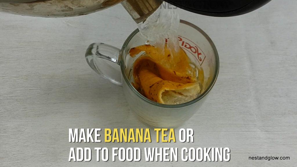 banana skin tea