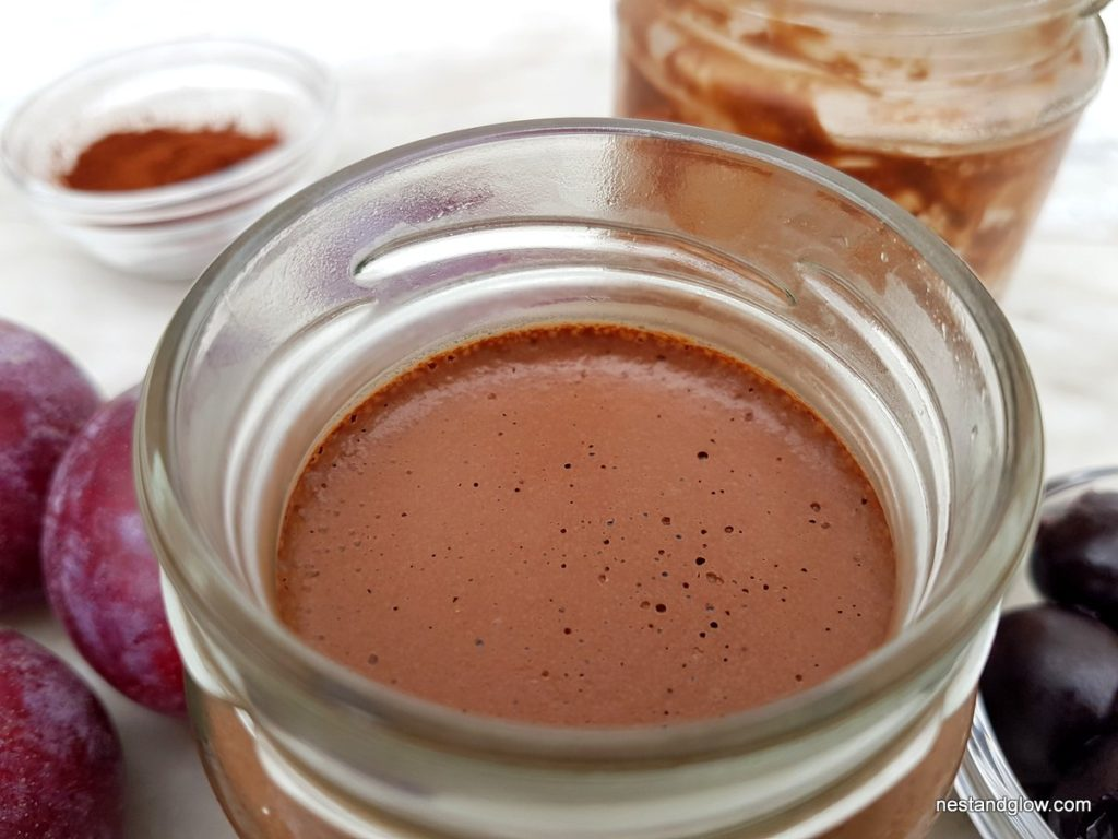 Close up of chocolate coco cacao spread