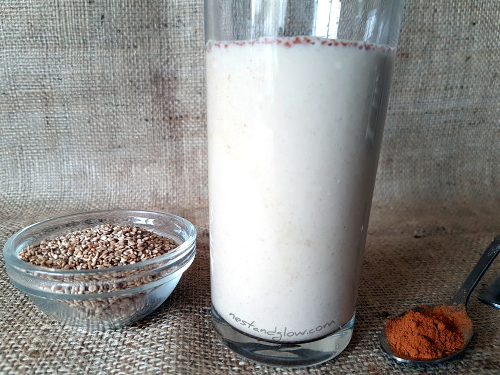Sesame Seed Cinnamon Milk Recipe