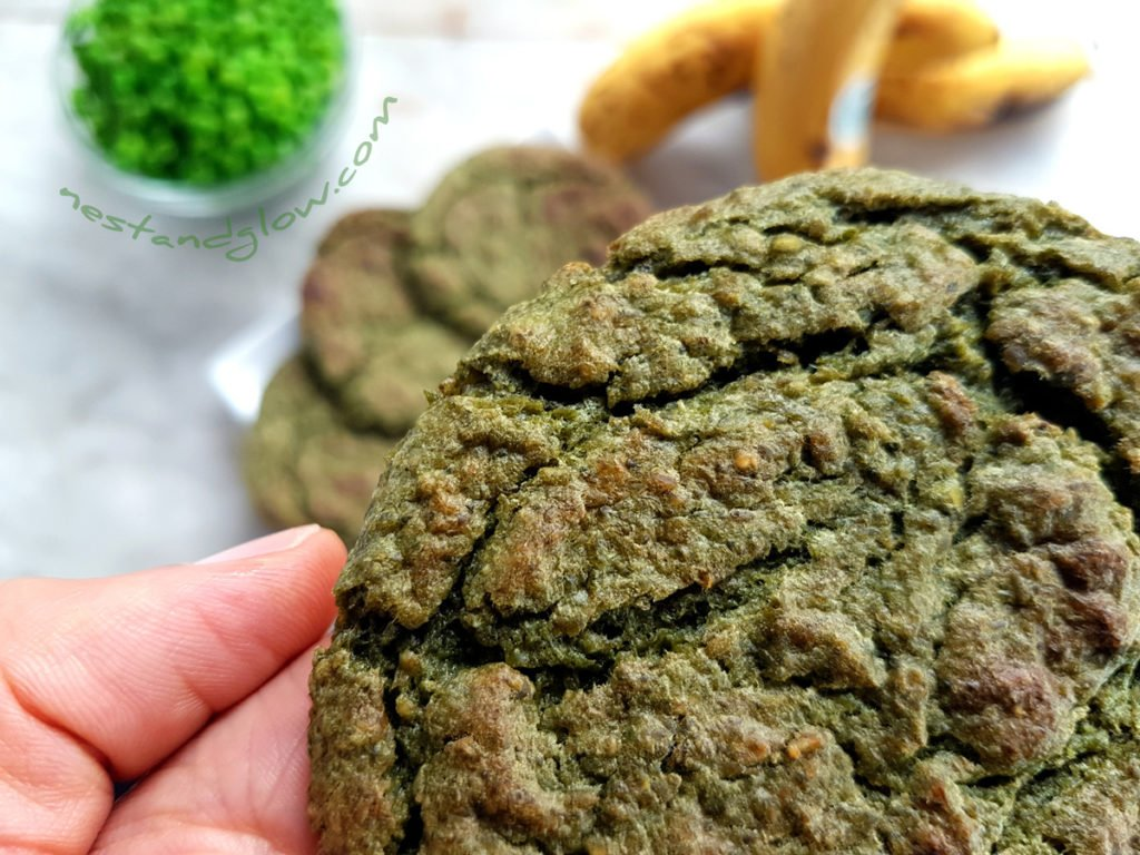 Green Pea Sweet healthy Cookies