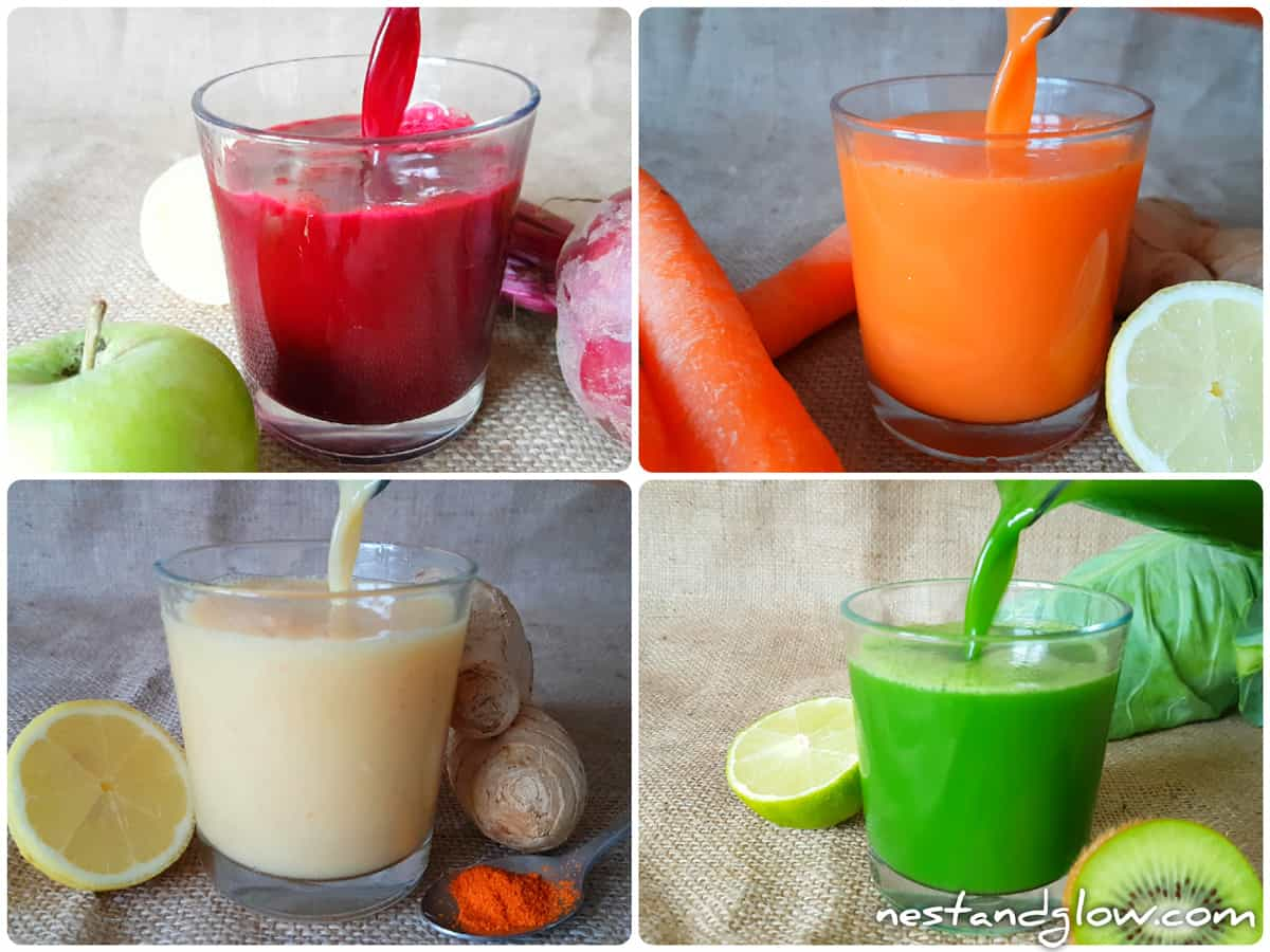 healthy fruit vegetable shot recipes