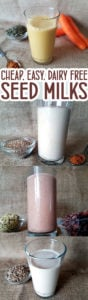 Seed Milk Recipes - cheap, easy, vegan and nut free