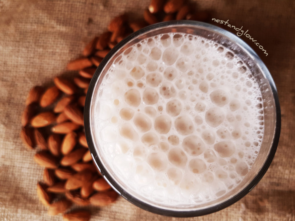 Heart Healthy Almond Milk made from just a few natural ingredients and a source of vitamins and minerals including calcium