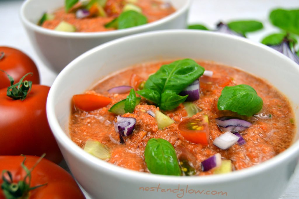 Almond Tomato Gazpacho Soup