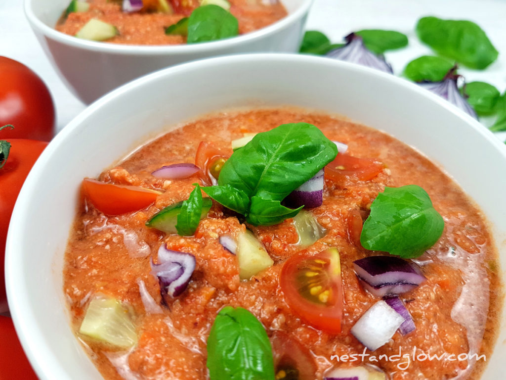 Almond Tomato Red Pepper Gazpacho Raw Soup