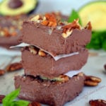 Avocado Chocolate Mint Fudge