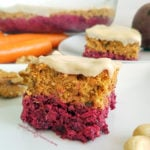 Raw Carrot Beetroot Cake with Cashew Frosting