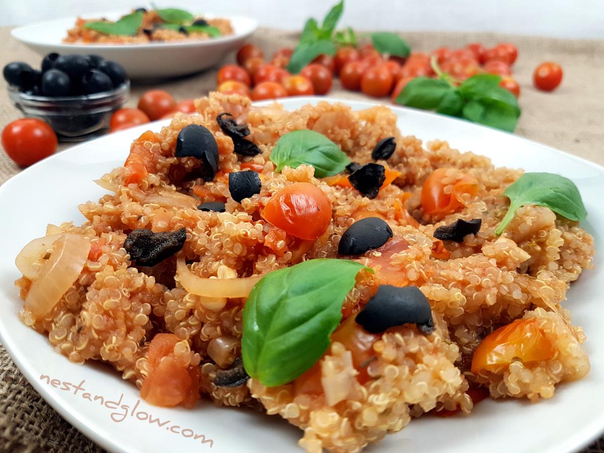 One-pot Tomato BasilQuinoa Recipe