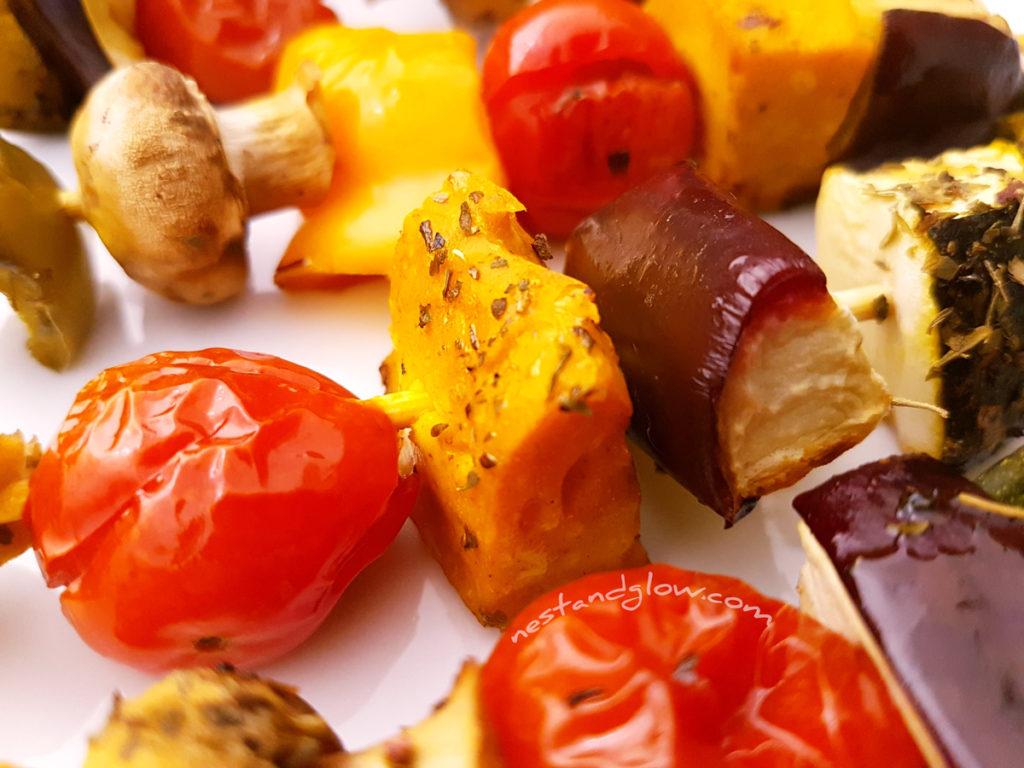 Chickpea TofuVegetable Kebabs
