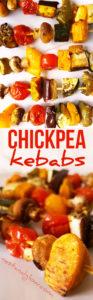 Chickpea TofuMediterranean Vegetable Kebabs Recipe - Easy vegan healthy kebabs with homemade chickpea tofu