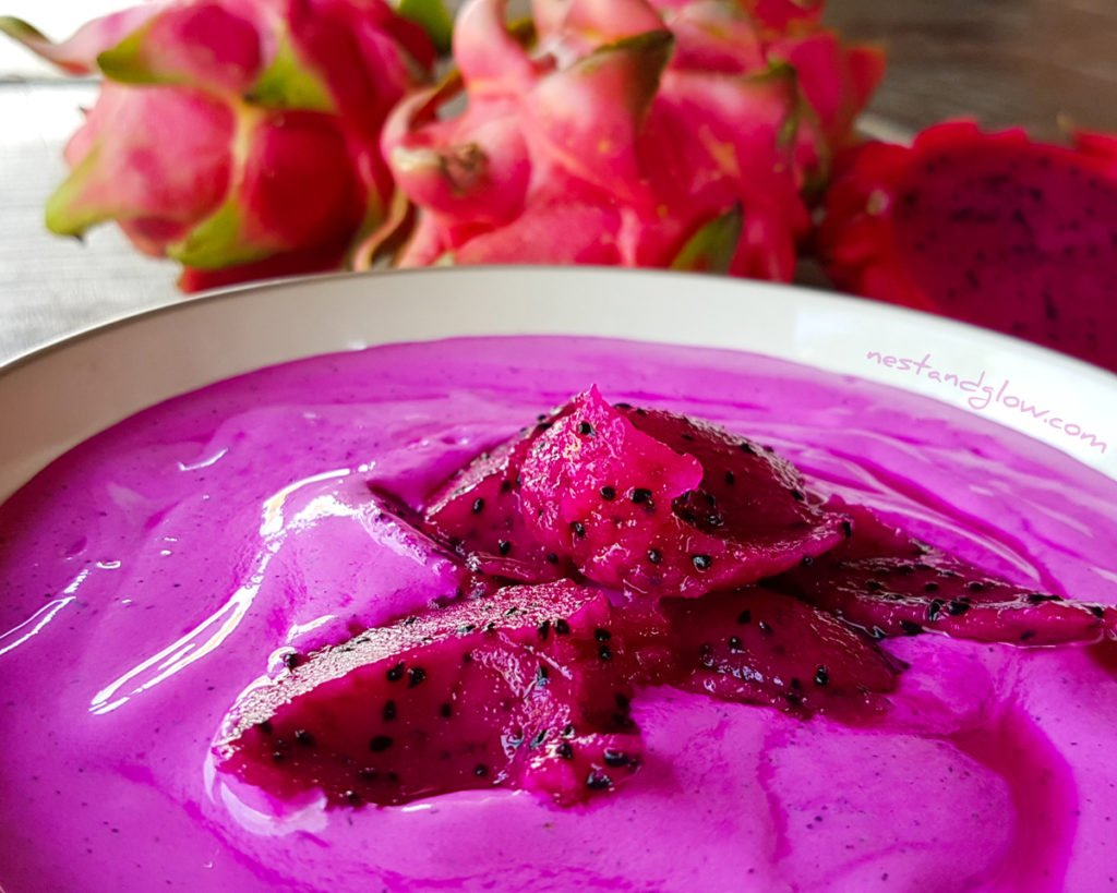 Dragon Fruit Cashew Ice Cream