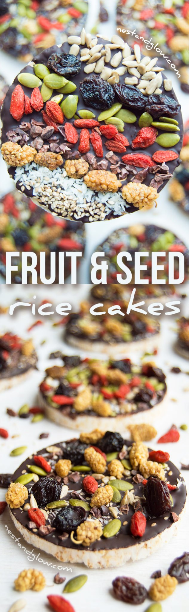 Fruit And Seed Dark Chocolate Rice Cakes Recipe