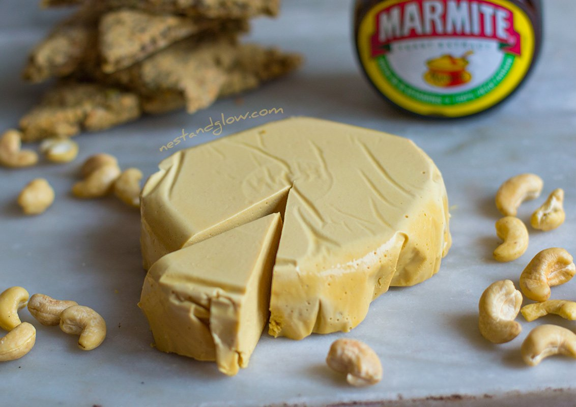 Marmite Cashew Vegan Cheese Recipe - Easy and Heart-healthy