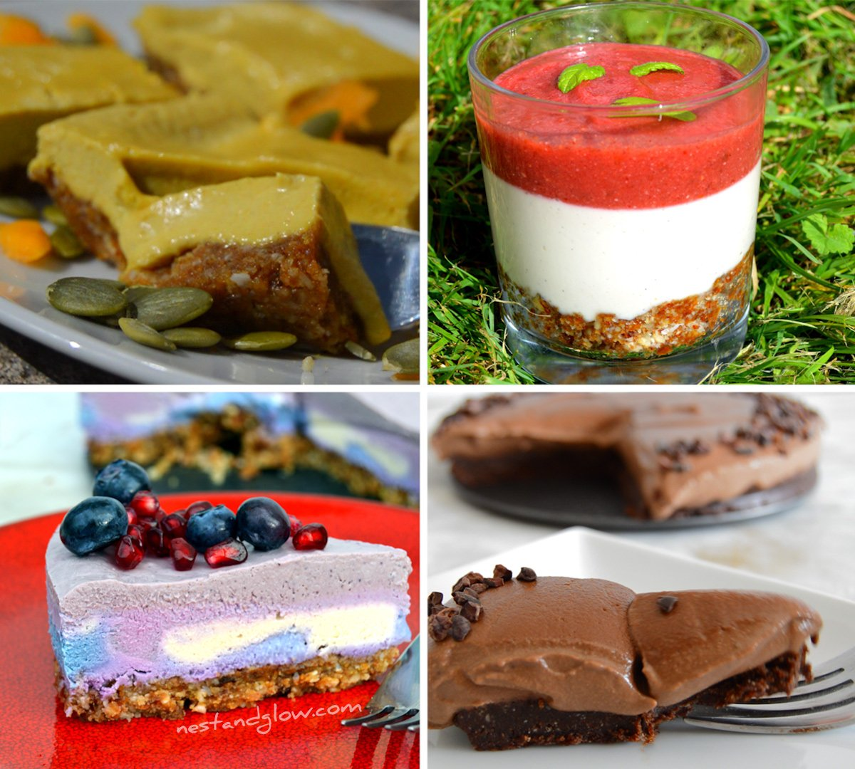 Raw Vegan Cashew Cheesecake Recipes