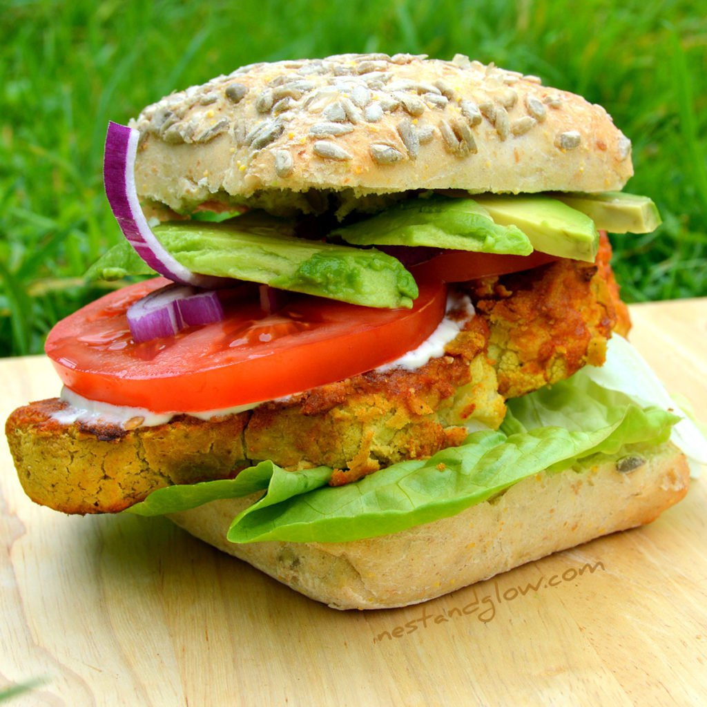 Chickpea Cauliflower Vegan Burger