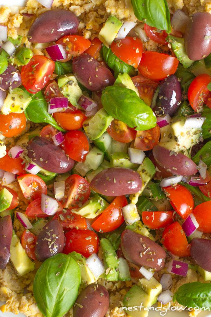 hummus greek salad