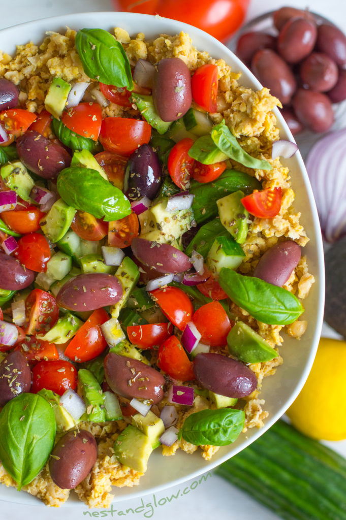 hummus healthy raw salad
