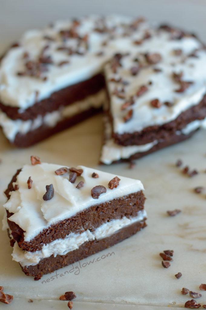 Healthy vegan and gluten free chocoalte cake