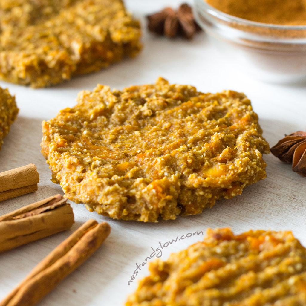 banana oat pumpkin spiced cookies breakfast