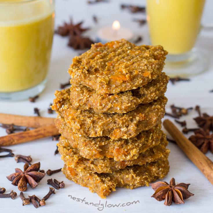 Pumpkin Spice Healthy Cookies