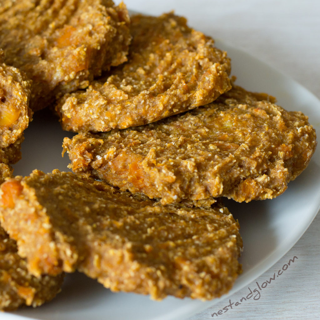A close up plate of Banana Oat Pumpkin Spiced Cookies