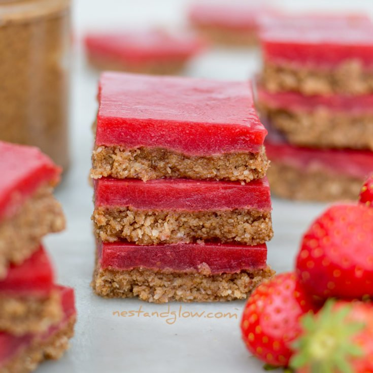 Almond Butter and Strawberry Jelly Slice