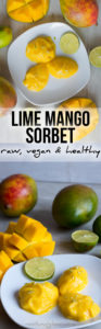 Lime Mango Instant Sorbet - raw, vegan and healthy