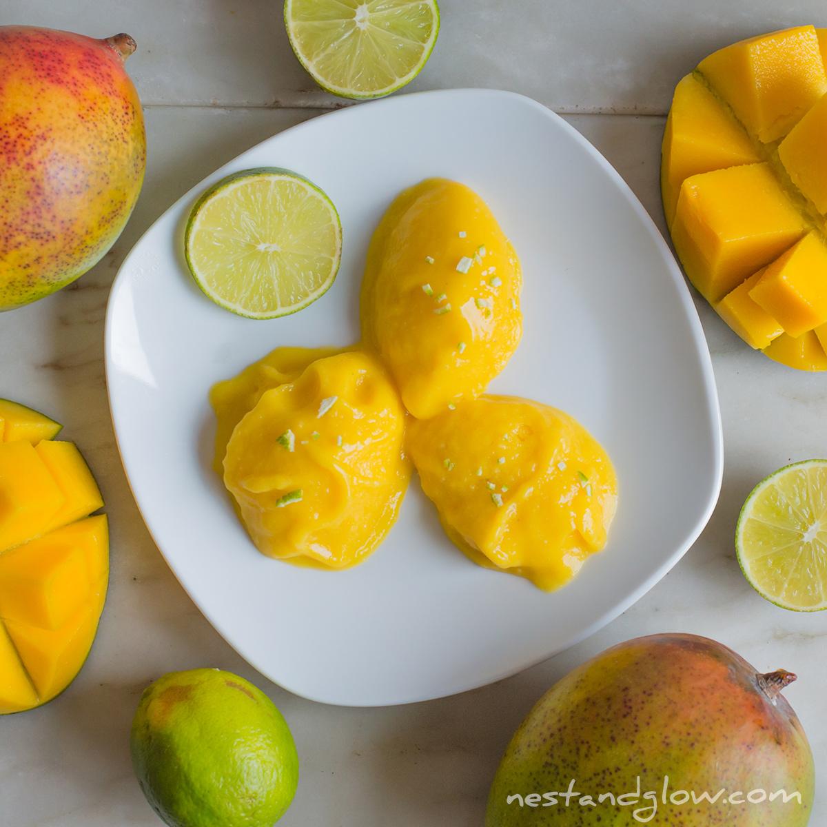 mango lime instant sorbet
