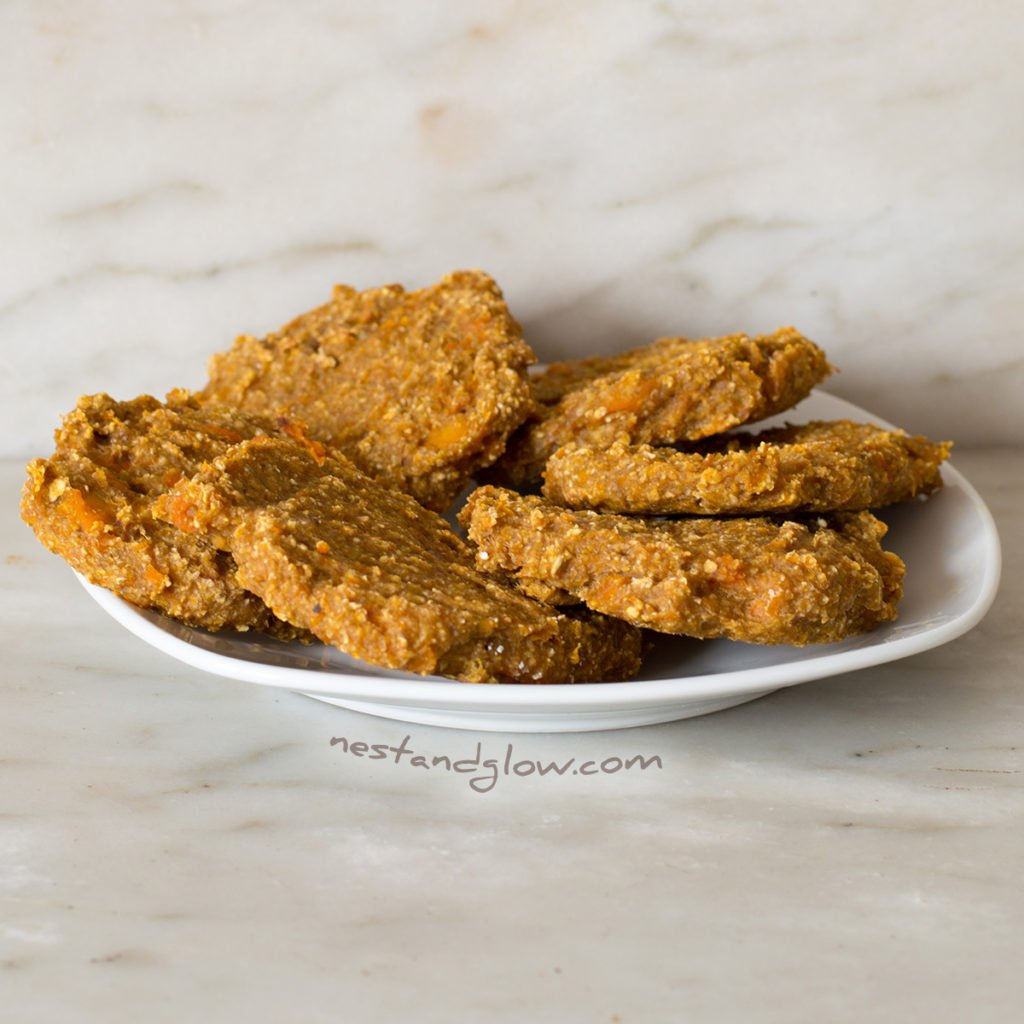 A plate of Banana Oat Pumpkin Spiced Cookies