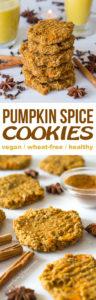Banana Oat Pumpkin Spiced Cookies Recipe - Easy, Wheat-free, Vegan and Healthy