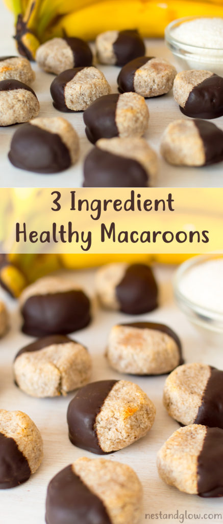 3 Ingredient Healthy Macaroons Recipe Chocolate Banana
