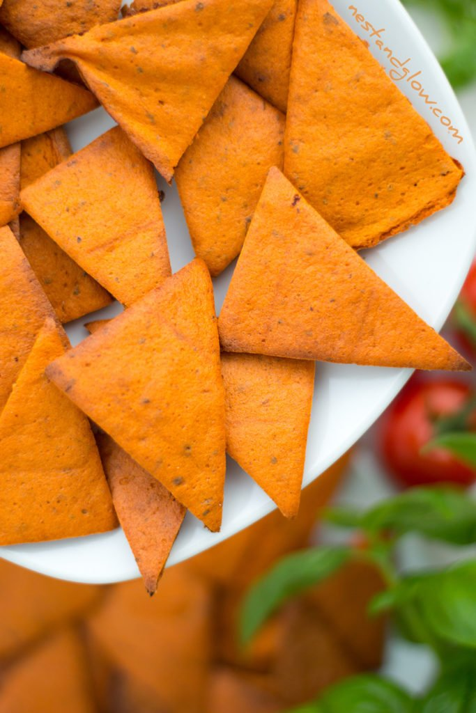 Tomato and Basil Lentil Chips Crisps