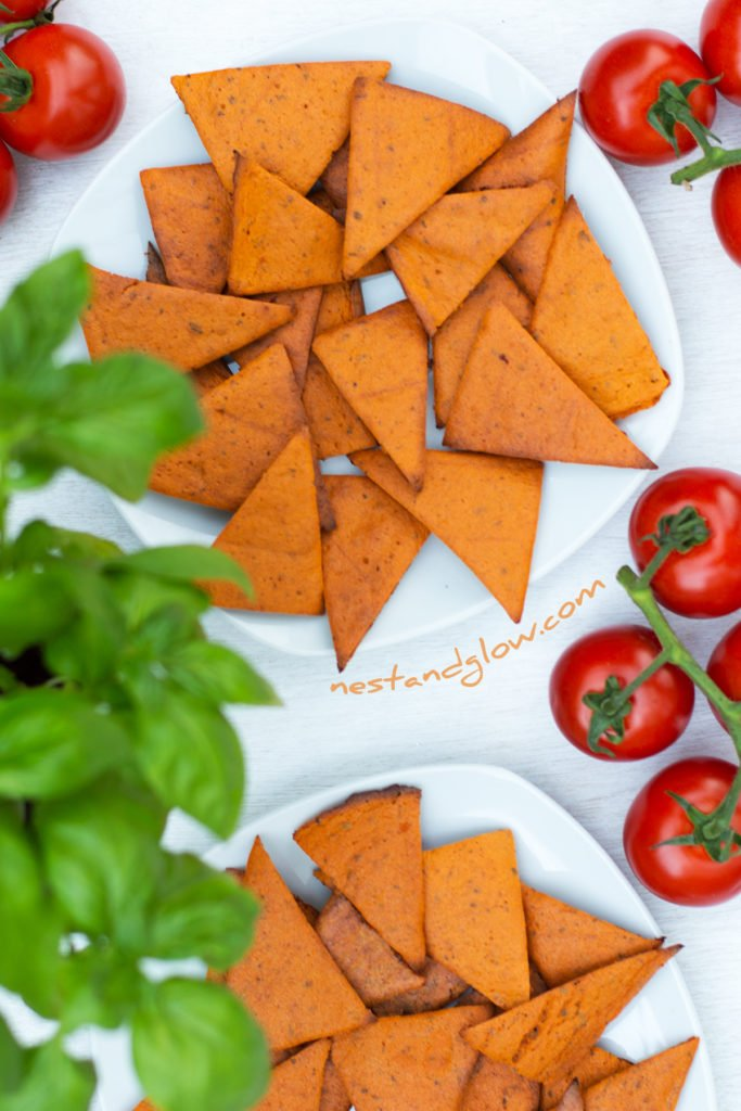 Tomato and Basil Lentil Chips Wheat Free