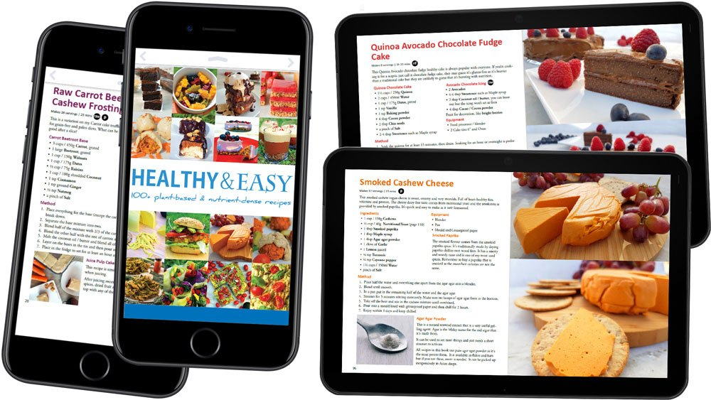 Healthy and Easy Plant-Based Diet Ebook mobile tablet