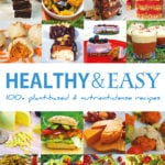 healthy easy recipe book look inside cover