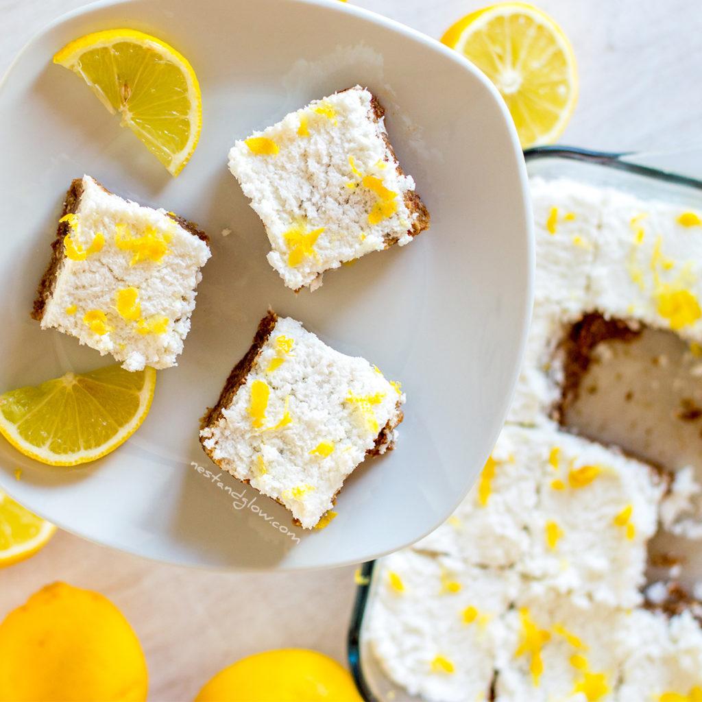 lemon drizzle seed cake - nut free