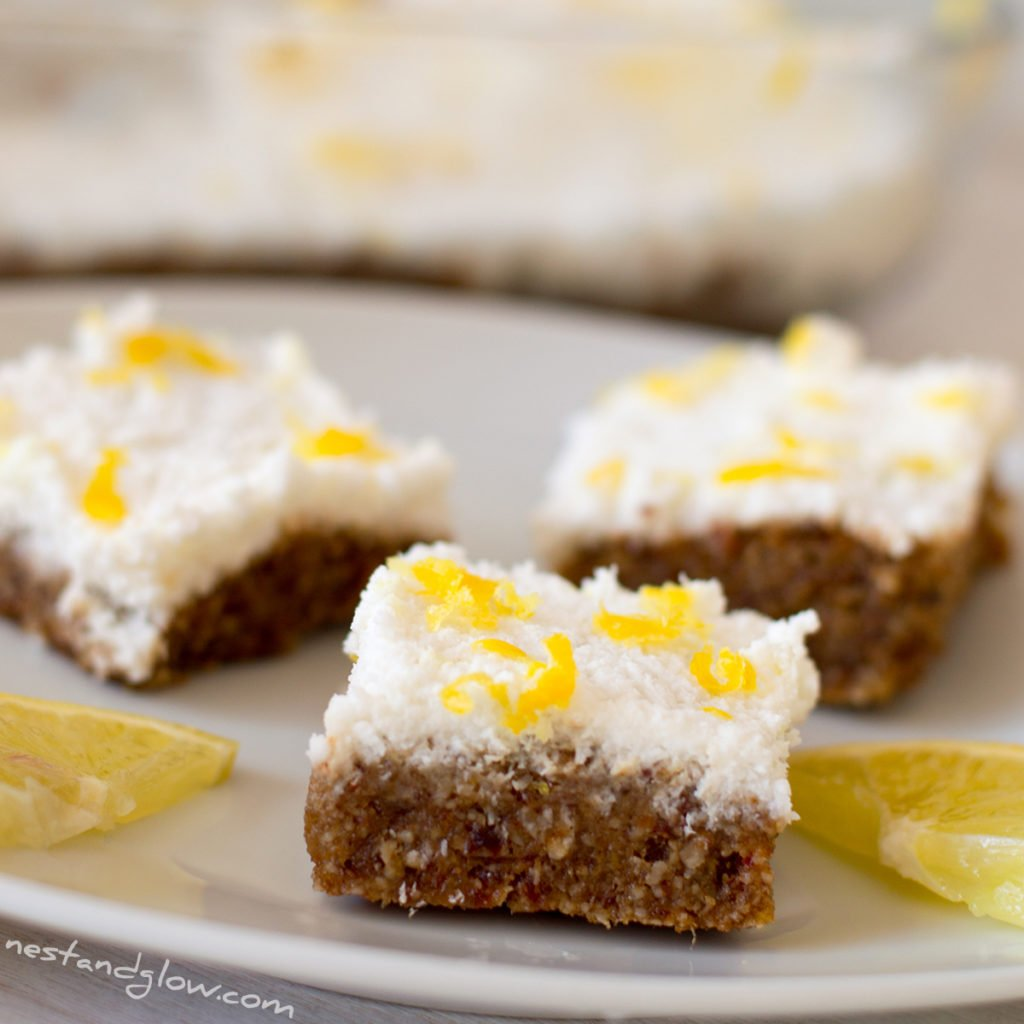 lemon drizzle seed cake - raw vegan