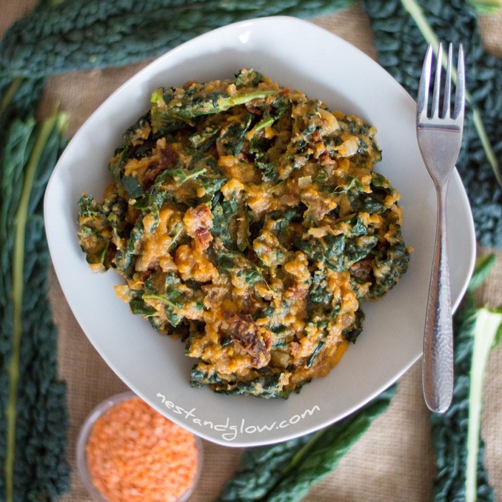 sweet potato and kale dahl vegan and cheap