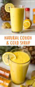 Natural Cough and Cold Syrup Recipe - Pineapple, lemon, ginger, turmeric