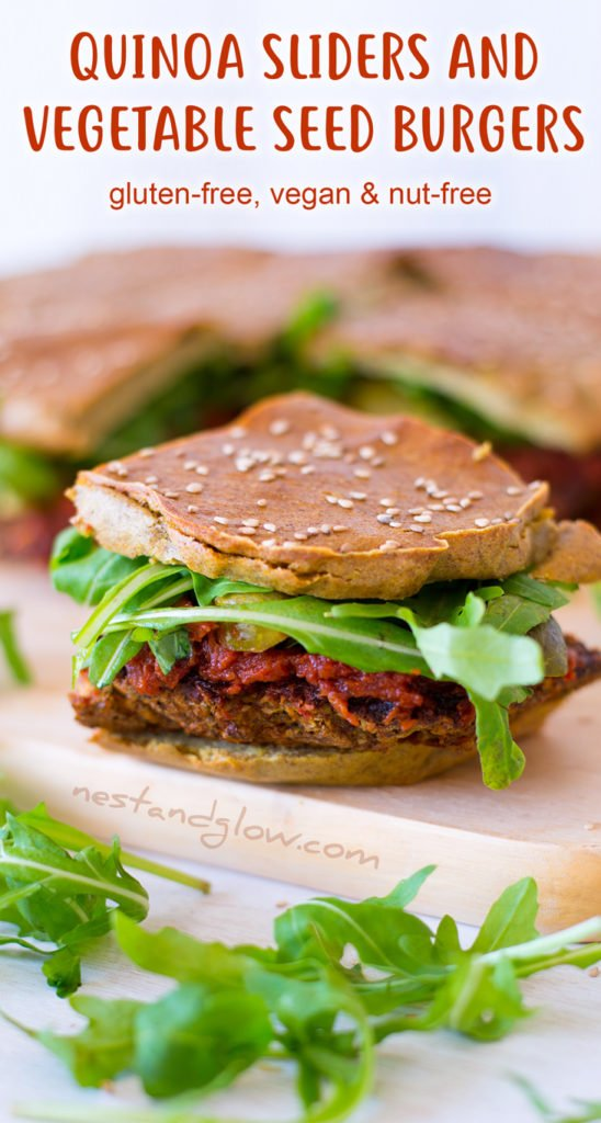 Quinoa Veggie Burger Sliders Recipe - Vegan, Gluten-free and Nut-free