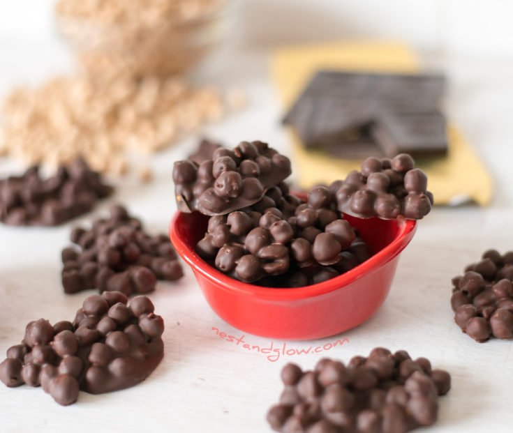 2-Ingredient Chickpea Chocolate Protein Candy