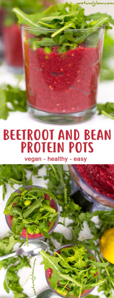 Beetroot and Bean Protein Pots Recipe - Vegan, Healthy and Easy