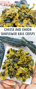 Cheese and Onion Sunflower Kale Crisps Recipe - Vegan, nut-free and Raw