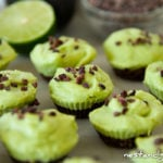 Chocolate Avocado Lime Cheesecakes